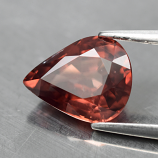 Genuine 100% Natural Pink Champagne Zircon 1.92ct 7.8 x 6.0mm Pear  SI1 Clarity