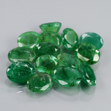 Genuine 100% Natural (14) Emeralds 8.25cts I3-I1 Pakistan 5.8x4.6, 7.0x5.1