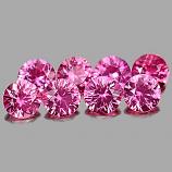 Genuine Pink Sapphire 0.17ct 3.4x3.4x2.2mm VVS Madagascar