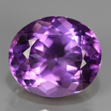 Genuine 100% Natural Amethyst 7.64ct 14.0 x 12.2mm Oval SI1 Clarity