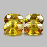 Genuine 100% Natural (4) Sphene 0.66ct 6.7x4.7x2.9mm VS1 Madagascar