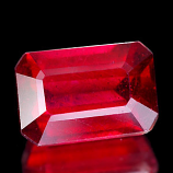 Genuine RUBY 3.09ct 9.2 x 6.3 x 4.6mm Octagon