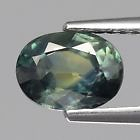Genuine Greenish Blue Sapphire 1.51ct 7.5x5.5x3.8mm SI1 Austrailia