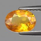 Genuine Yellow Sapphire 1.30ct 7.8x5.8x3.3mm SI1 Tanzania