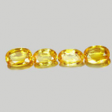 Genuine Yellow Sapphires 0.47ct 5.9x4x2.1mm VS1 Thailand