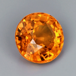 Genuine Orange Sapphire .59ct 5.0 x 5.0mm Round VVS Clarity