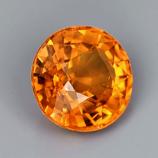 Genuine Orange Sapphire .59ct 5.0 x 5.0mm Round VVS Clarity