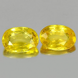 Genuine Yellow Sapphires 0.65ct 5.9x4.1x2.7mm VS1 Thailand