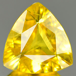 Genuine YELLOW SAPPHIRE 1.21ct 7.3 x 7.5 x 3.1mm Trilliant