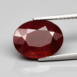 Genuine RUBY 4.81ct 11.0 x 8.5mm Oval SI2 Clarity