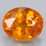 Genuine Orange Sapphire 1.00ct 6.1 x 5.1mm Oval SI2 Clarity