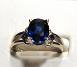 Large 4.74ct KASMIR BLUE SAPPHIRE Gold Ring 14k White Gold Size 7