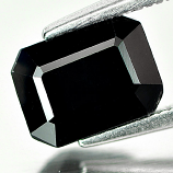 Genuine Black Sapphire 2.13ct 8.2 x 6.1mm Octagon Opaque