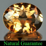 Genuine 100% Natural Champagne Topaz 2.94ct 10.0 x 8.0mm Brazil SI