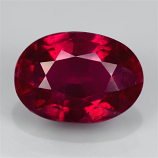 Genuine Ruby 1.17ct 7.0 x 5.0mm Oval SI1 Clarity