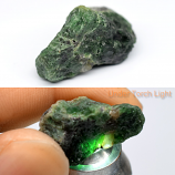 Genuine 100% Natural Tsavorite Rough 25.15ct 22.3x14.0x13.5mm Tanzania