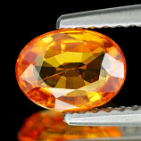 Genuine ORANGE SAPPHIRE 1.12ct 7.0 x 5.3 x 3.0mm Oval