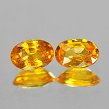 Genuine Yellow Sapphire .64ct 6.0 x 4.0mm Oval SI Clarity