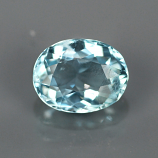 Genuine 100% Natural Aquamarine 1.05ct 7.5x5.8 SI1 Ceylon