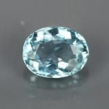 Genuine 100% Natural Aquamarine 1.05ct 7.5x5.8 SI1 Ceylon