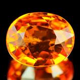 Genuine Orange Sapphire 1.04ct 6.5 x 5.3 x 3.1mm Tanzania SI