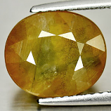 Genuine Yellow Sapphire 4.34ct 10.0 x 8.6mm Oval SI1 Clarity