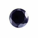 Genuine Midnight Blue Sapphire .38ct 5.0 x 5.0mm Round Opaque