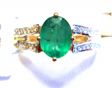 Beautiful Emerald Gold Ring 1.15ct SI Clarity Size 7.0