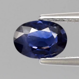 Genuine Blue Sapphire 0.73ct 6.5x4.7x2.5mm Oval SI1 Thailand