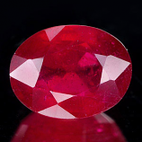 Genuine RUBY 2.37ct 8.6 x 6.6 x 4.5mm Oval