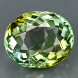 Genuine 100% Natural Greenish Yellow Tourmaline 3.48ct 10.1 x 8.4mm SI1