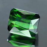 Genuine 100% Natural GREEN TOURMALINE 1.73ct 7.2 x 6.0 x 4.5mm Octagon