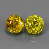 Genuine 100% Natural (2) Sphene 1.81ct 5.53x5.5mm & 5.8x5.8mm SI1 Madagascar