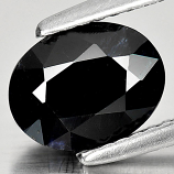 Genuine Black Sapphire 1.90ct 8.6 x 6.7mm Oval Opaque