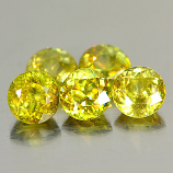 Genuine 100% Natural (5) Sphene 0.54ct 4.9x4.9x3.1mm VS1 Madagascar
