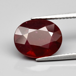 Genuine Ruby 4.99ct 11.5x9.3x4.9mm SI2 Mozambique