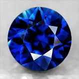 Genuine Pair Blue Sapphires .76cts 4.2 x 4.2mm Round VS1 Clarity