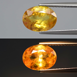 Genuine 100% Natural Sphene 2.26ct 9.8x7.3x4.1mm SI1 Madagascar