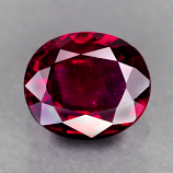 Genuine 100% Natural RUBY .86ct 6.2 x 5.2 x 2.8mm Oval (Certified)