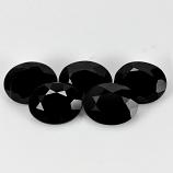Genuine 100% Natural Black Spinel 1.02ct 7.0x5.0mm Opaque Thailand