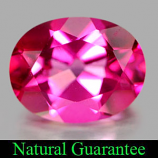 Genuine Pink Topaz 2.19ct 9.1 x 7.1mm Oval IF Clarity