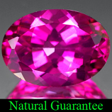 Genuine PINK TOPAZ 6.79ct 14.0 x 10.0 x 6.6mm Oval