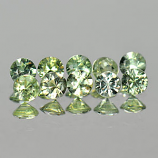 Genuine Green Sapphires 0.11cts 2.8x2.8x1.5 VS1 Thailand