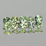 Genuine Green Sapphires 0.11cts 2.8x2.8x1.5 VS1 Thailand