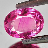 Genuine 100% Natural Pink Tourmaline 1.17ct 7.5 x 5.8mm Oval VS1 Clarity