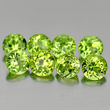 Genuine 100% Natural Peridot 0.28ct 4.0x4.0x2.6mm VS1 Pakistan