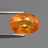 Genuine ORANGE SAPPHIRE 1.12ct 6.8 x 5.0mm Oval SI1 Clarity