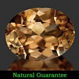 Genuine 100% Natural Champagne Topaz 2.12ct 9.1 x 6.9mm Brazil SI