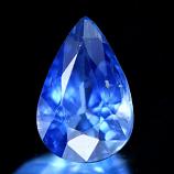 Genuine Blue Sapphire .72ct 6.7 x 5.1mm SI