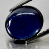 Genuine Cabochon Blue Sapphire 3.25ct 9.1x7.8x4.2mm opaque Madagascar